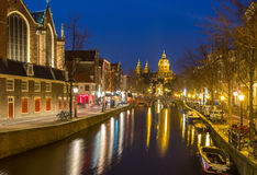 Amsterdam at night Stock Images