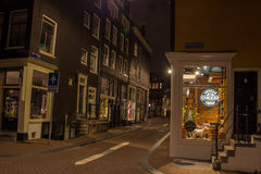 Amsterdam by night, canalstreets Stock Photo