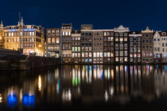 Amsterdam by night Royalty Free Stock Photography