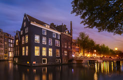 Amsterdam by night, netherlands Royalty Free Stock Image