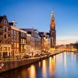 Amsterdam at night, Netherlands Stock Photos