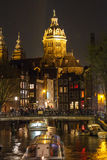 Amsterdam nightlife Royalty Free Stock Image