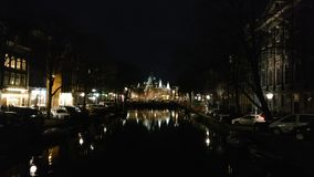 Amsterdam notturna fotografia stock libera da diritti