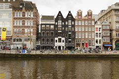 Amsterdam. OCTOBER 20, 2013: Bicycles in  on October 20, 2013.  is worlds most bicycle friendly cities, 57% of traffic covered by bicycles and 760,000 Stock Images