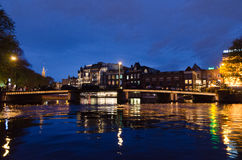 Amsterdam. OCTOBER 22, 2013: Canals on October 22, 2013 in . , capital of the Netherlands has more than one hundred kilometres of canals, about 90 islands and Stock Photography