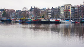 Amsterdam łodzie Fotografia Stock
