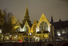 Amsterdam. The old Church. Stock Photos