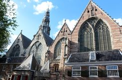Amsterdam, Old Church (Oude Kerk) Royalty Free Stock Photo