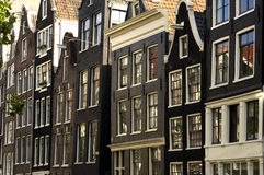 Amsterdam, old houses Royalty Free Stock Images