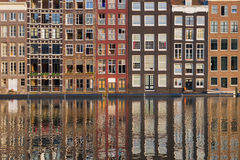 Amsterdam old houses Royalty Free Stock Images