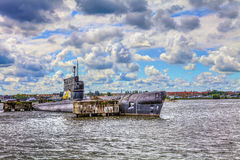 Amsterdam old submarines Stock Image