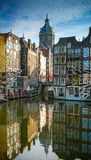 Amsterdam old town buildings Royalty Free Stock Photo