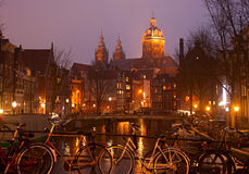 Amsterdam Old Town scene Royalty Free Stock Photos
