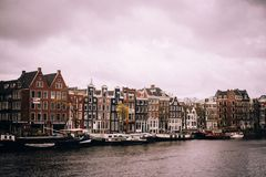 Free Amsterdam On A Cloudy Day Royalty Free Stock Image - 106069246
