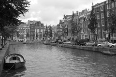 Amsterdam, oude stad Stock Foto
