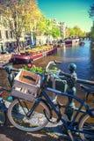 Amsterdam på våren Arkivbild