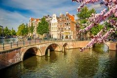 Amsterdam på våren arkivbilder