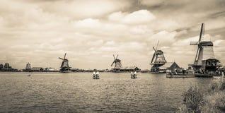 amsterdam północnych schans obubrzeżny wiatraczków zaanse Holandie obrazy royalty free