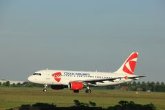 Amsterdam, Paesi Bassi - 1° giugno 2017: OK-NEM Czech Airlines CSA Airbus A319-112 Fotografia Stock