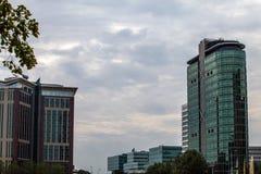 AMSTERDAM, PAESI BASSI - 27 AGOSTO 2015: La città alloggia il primo piano Amsterdam - Netherland Fotografia Stock