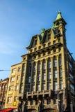 AMSTERDAM, PAESI BASSI - 30 GENNAIO 2015: Belle viste delle vie, costruzioni antiche, barca, argini di Amsterdam - anche Ca Fotografia Stock