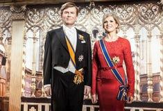 AMSTERDAM, PAESI BASSI - 21 GENNAIO: Inceri le persone famose del museo di signora Tussaud il 21 gennaio 2015 a Amsterdam, Paesi  Fotografia Stock Libera da Diritti