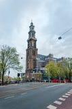 Amsterdam, Paesi Bassi - 6 maggio 2015: Westerkerk (chiesa occidentale) a Amsterdam immagine stock