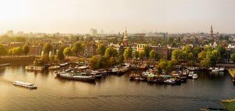 Amsterdam panorámica Imágenes de archivo libres de regalías