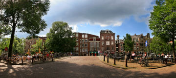 Amsterdam. Panorama. Stock Photo