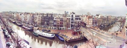 Amsterdam-Panorama Stockbilder