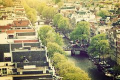 Amsterdam panorama, Holland, Netherlands Royalty Free Stock Photo