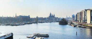 Amsterdam panoramic Royalty Free Stock Image