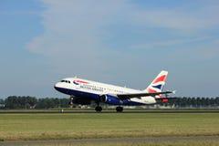 Amsterdam, Pays-Bas - août, 2016 18ème : G-EUPN British Airways Airbus A319 Photographie stock