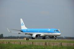 Amsterdam, Pays-Bas - 10 août 2015 : PH-EZS KLM Cityhopp Image stock