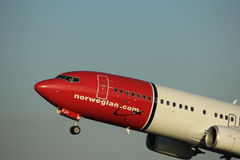 Amsterdam, Pays-Bas - 1er juin 2017 : International norvégien Boeing d'air d'EI-FJV Image libre de droits
