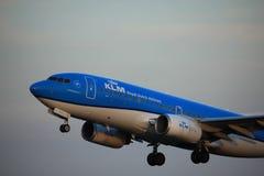 Amsterdam, Pays-Bas - 1er juin 2017 : Lignes aériennes de PH-BGI KLM Royal Dutch Image libre de droits