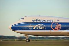Amsterdam, Pays-Bas - 1er juin 2017 : VQ-BVR AirBridgeCargo Images libres de droits