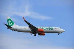 Amsterdam, Pays-Bas, juillet, 2016 21ème : PH-GUA Transavia Boeing 737 Photo libre de droits