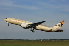 Amsterdam, Pays-Bas - 2 juin 2017 : A6-DDE Etihad Airways Photo stock
