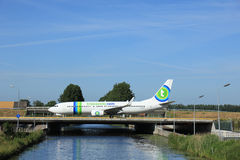 Amsterdam, Pays-Bas - 9 juin 2016 : PH-HSC Transavia Boe Photo stock