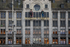 AMSTERDAM, PAYS-BAS - 13 MAI 2015 : Royal Palace sur le barrage ajustent à Amsterdam Images libres de droits
