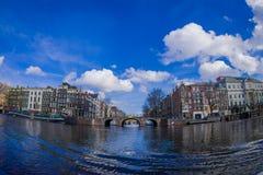 AMSTERDAM, PAYS-BAS, MARS, 10 2018 : Extérieur de théâtre royal, le théâtre officiel d'Amsterdam, à Amsterdam Image libre de droits