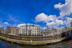 AMSTERDAM, PAYS-BAS, MARS, 10 2018 : Extérieur de théâtre royal, le théâtre officiel d'Amsterdam, à Amsterdam Photographie stock libre de droits