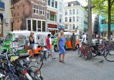 Amsterdam, pejzaż miejski zdjęcia stock