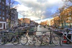 Amsterdam pejzaż miejski Zdjęcia Stock