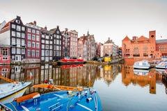 Amsterdam pejzażu miejskiego widok obraz royalty free