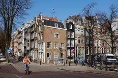 Amsterdam - pejzaż miejski Obrazy Royalty Free