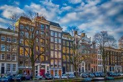 Amsterdam pejzaż miejski Zdjęcia Royalty Free