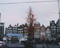 Amsterdam pendant l'hiver Photos libres de droits