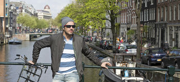 Amsterdam people Royalty Free Stock Photography